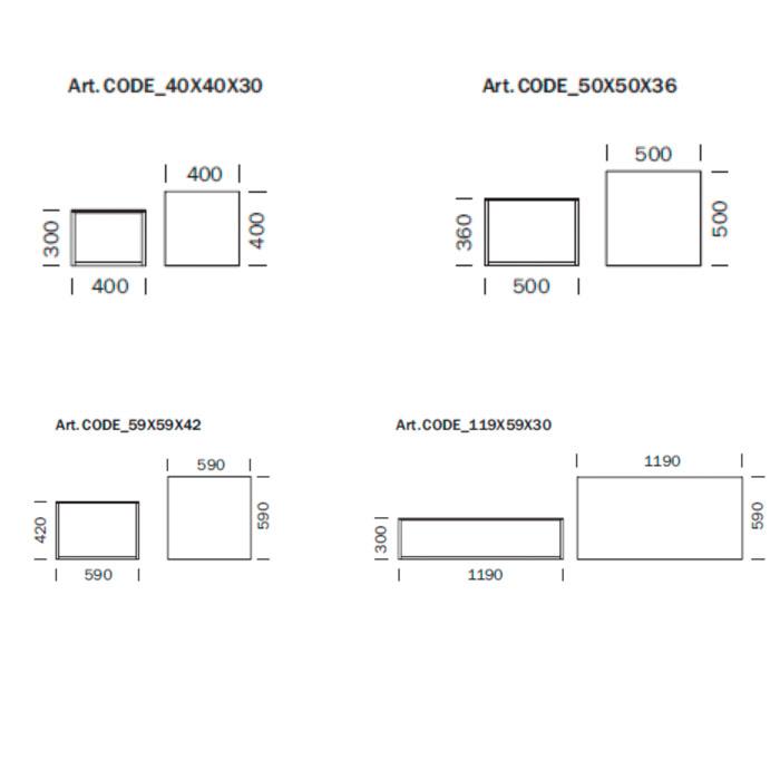 Diagrama mesa de centro Code de Pedrali