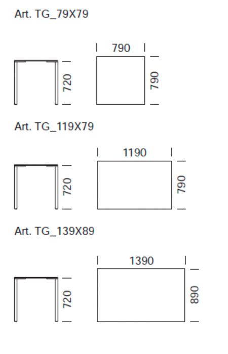 Mesa de comedor togo de pedrali muebles de dise o en - Dimensiones mesa comedor ...