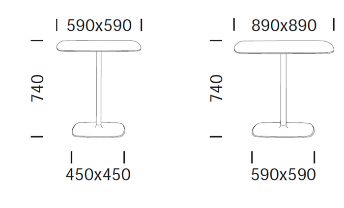 Diagrama mesa de diseño Stylus de Pedrali