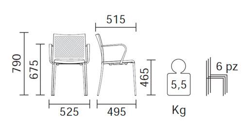 Diagrama sillón jardín Mya 706/2