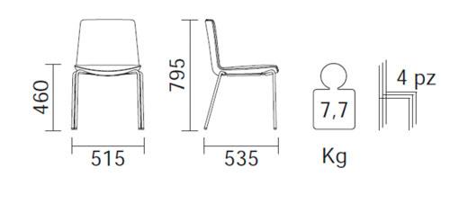 Diagrama silla de cocina Noa 725