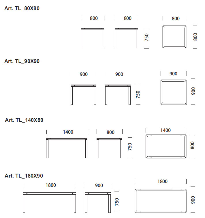 Comprar mesa logico de pedrali - Mesas de cocina a medida ...