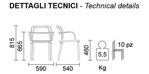 Medidas Silla Intrigo 3715