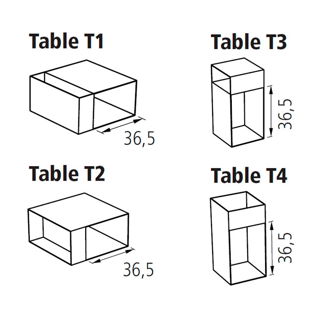 Diagrama mesa auxiliar Match de Schönbuch