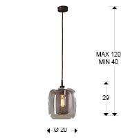 Medidas de la lámpara Fox 1L