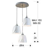 Medidas lámpara Helike