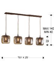 Medidas lámpara Fox de Schuller