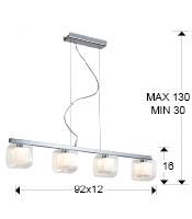 Medidas lámpara Cube 4L de Schuller