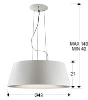 Medidas lámpara Zone 4L Schuller