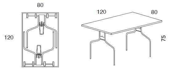 Mesa plegable opera imultifunzione by sedit for Mesa plegable medidas
