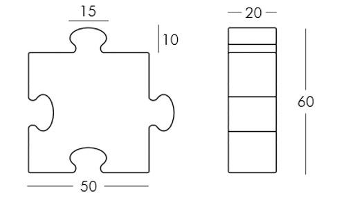 Diagrama lámpara Puzzle de Slide