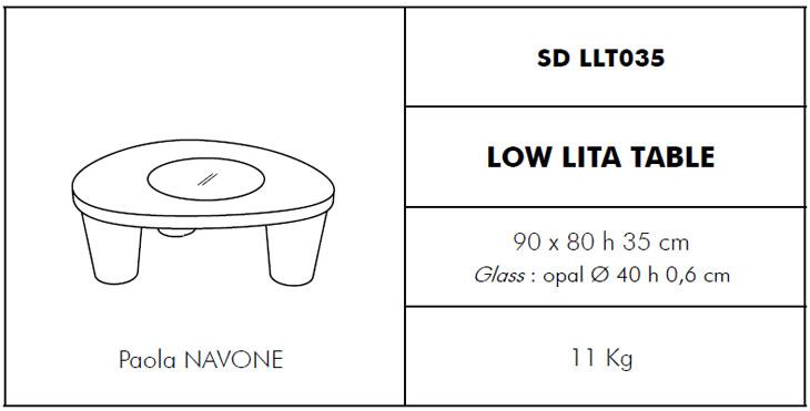 Medidas mesita Low Lita table SLIDE Design