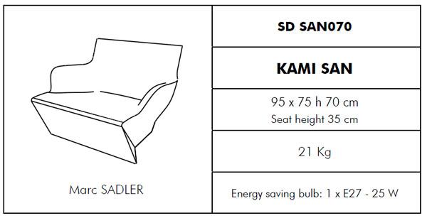 Medidas butaca chillout Kami San SLIDE Design