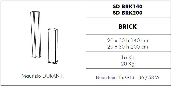 Medidas lámpara de exterior Brick Slide Design
