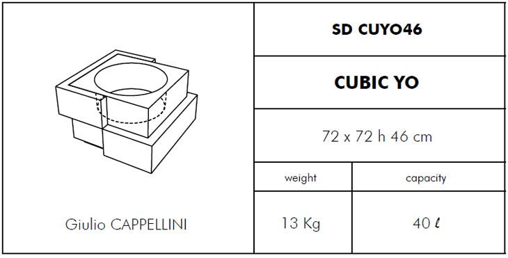 Medidas maceta de diseño Cubic Yo Slide Design