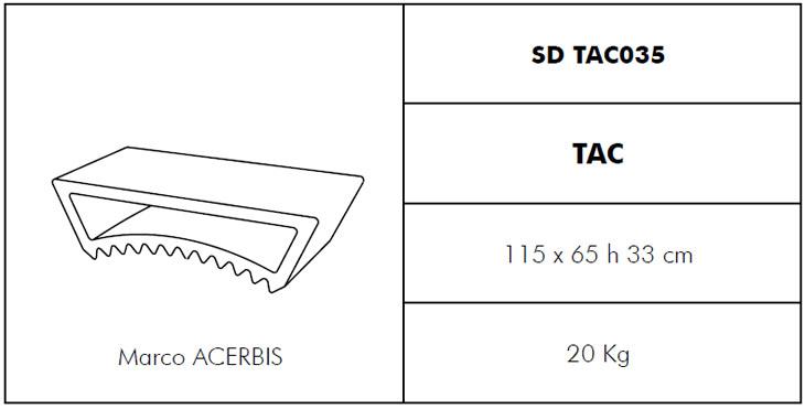 Medidas mesita para tumbona Tac Slide Design