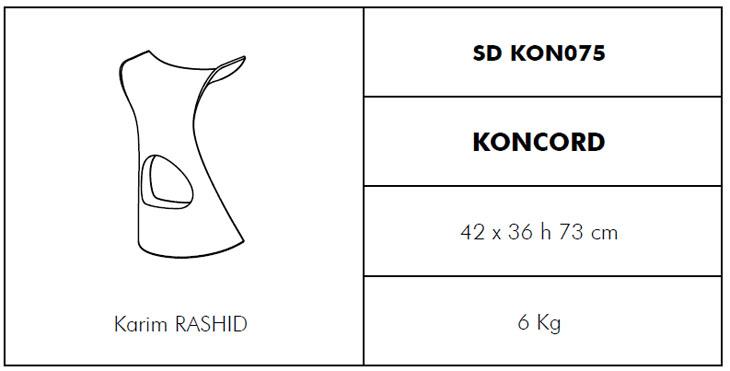 Medidas taburete Koncord Slide Design
