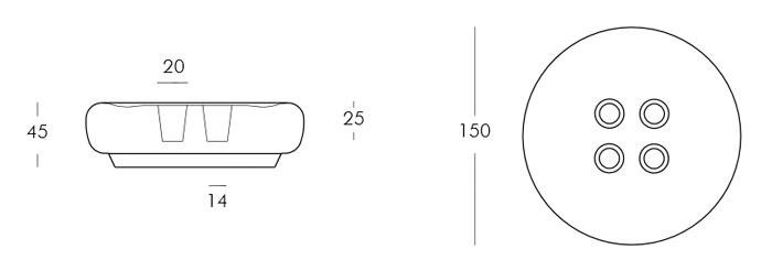 Diagrama mesa taburete Bot One de Slide