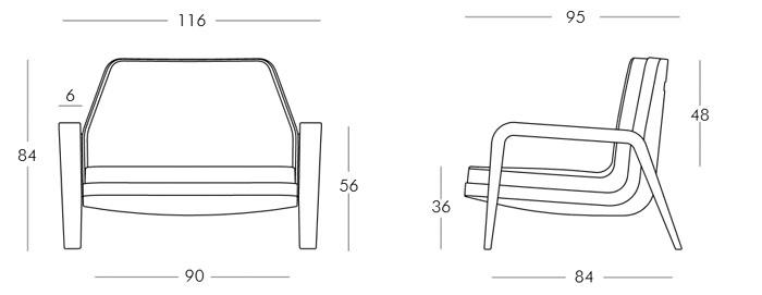 Diagrama sillón America de Slide