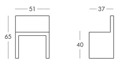 Diagrama silla Angolo Retto de Slide