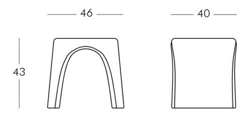 Diagrama taburete Amélie de Slide