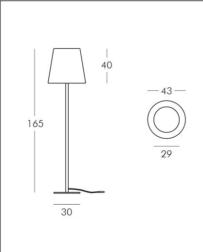 Medidas lámpara Ali Baba opción 1