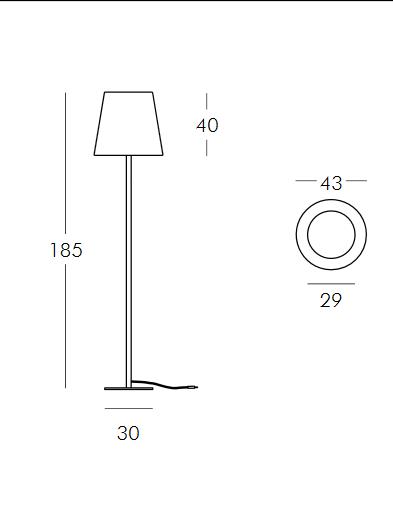 Medidas lámpara Ali Baba opción 2