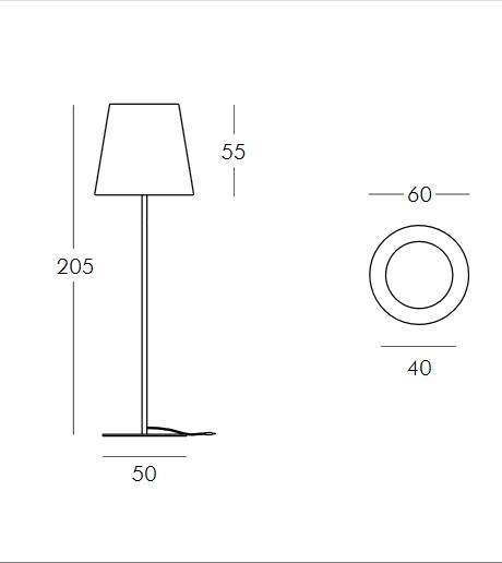 Medidas lámpara Ali Baba opción 3