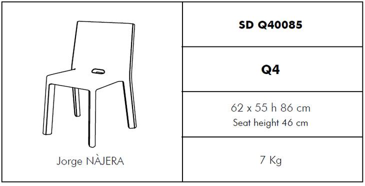Medidas silla Q4 SLIDE Design
