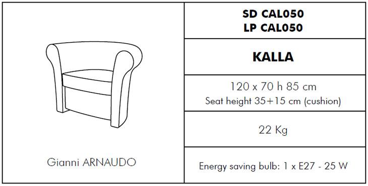 Medidas sillón Kalla SLIDE Design