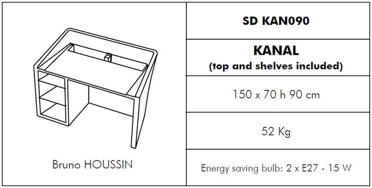 Medidas barra con luz Kanal SLIDE Design