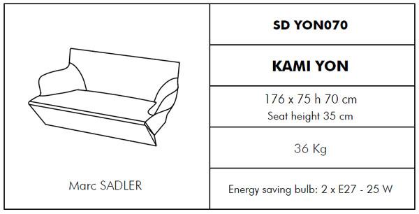 Medidas sofá chill-out Kami Yon SLIDE Design