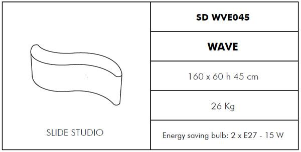 Medidas maceta de diseño Wave Slide Design