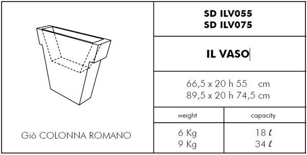 Medidas maceta Il Vaso SLIDE Design