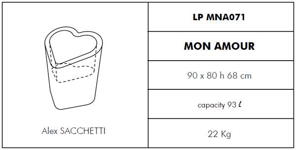 Medidas maceta de diseño Mon Amour SLIDE Design