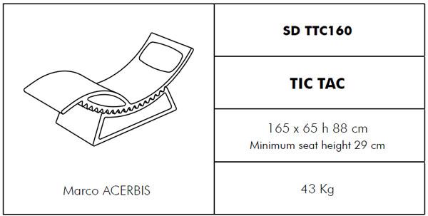 Medidas Tumbona Tic Tac SLIDE