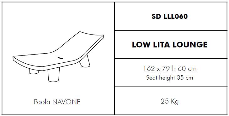 Medidas tumbona Low Lita Lounge SLIDE Design