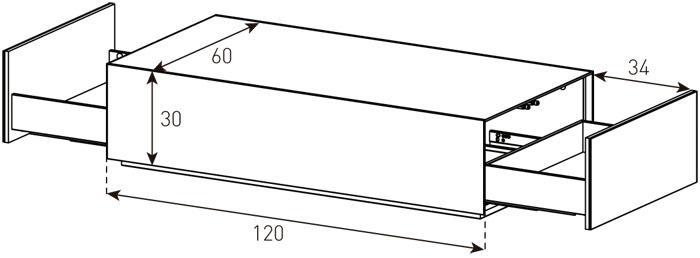 Diagrama mesa de centro ES 90 de Sonorous