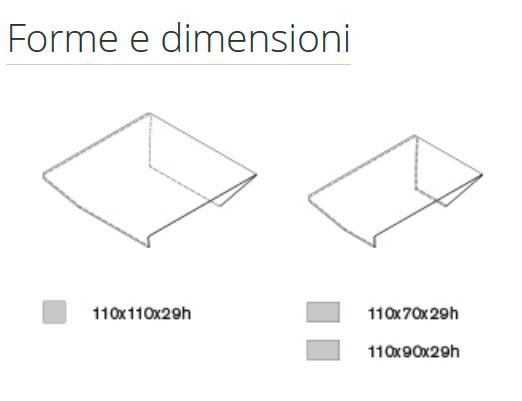 Diagrama mesa de centro Rubino de Sovet Italia