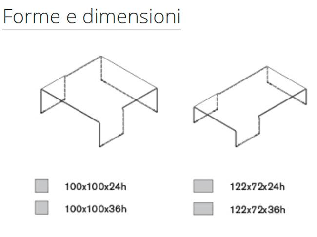 Diagrama mesa de centro Spider de Sovet Italia