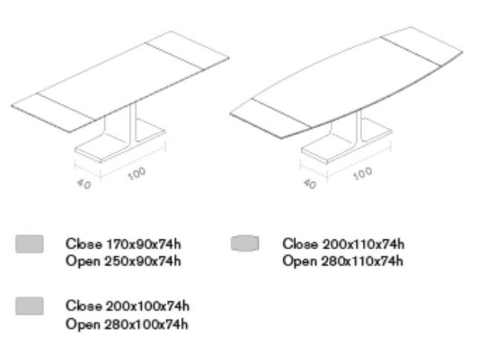 Diagrama mesa extensible Totem de Sovet Italia
