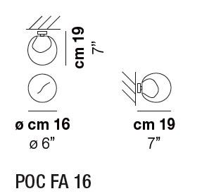Diagrama aplique de pared Poc de Vistosi