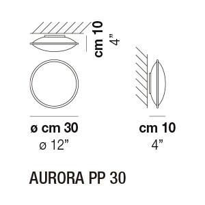Medidas aplique PP30 Aurora