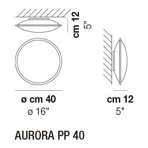 Medidas aplique PP40 Aurora Vistosi