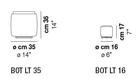 Diagrama lámpara de mesa Bot de Vistosi