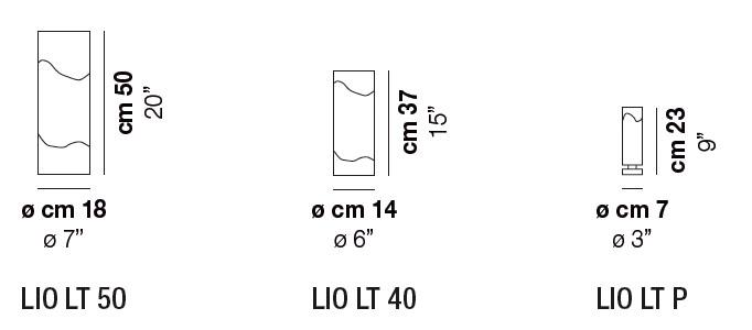 Diagrama lámpara de mesa Lio de Vistosi