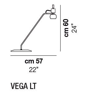 Diagrama lámpara de mesa Vega de Vistosi