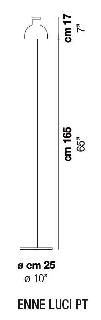 Diagrama lámpara de pie Enne Luci de Vistosi