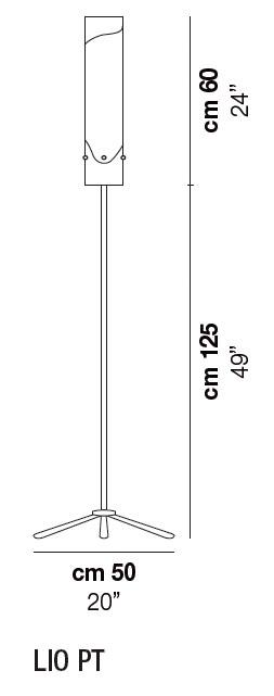 Diagrama lámpara de pie Lio de Vistosi