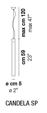 Diagrama lámpara de techo Candela de Vistosi